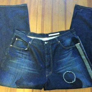 Men's Azzure Distressed Denim Jeans-42x33